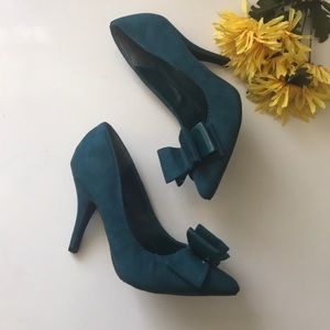 Suede Teal Heels | Diva Lounge by ModCloth